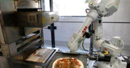 robot cocinero Zume Pizza cocina pizzas