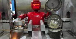 robot cocinero en Robot Restauran de Kunshán cerca de Shanghái en China